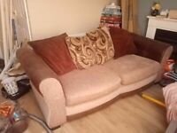 Sofa - 2 seater but can easily seat 3