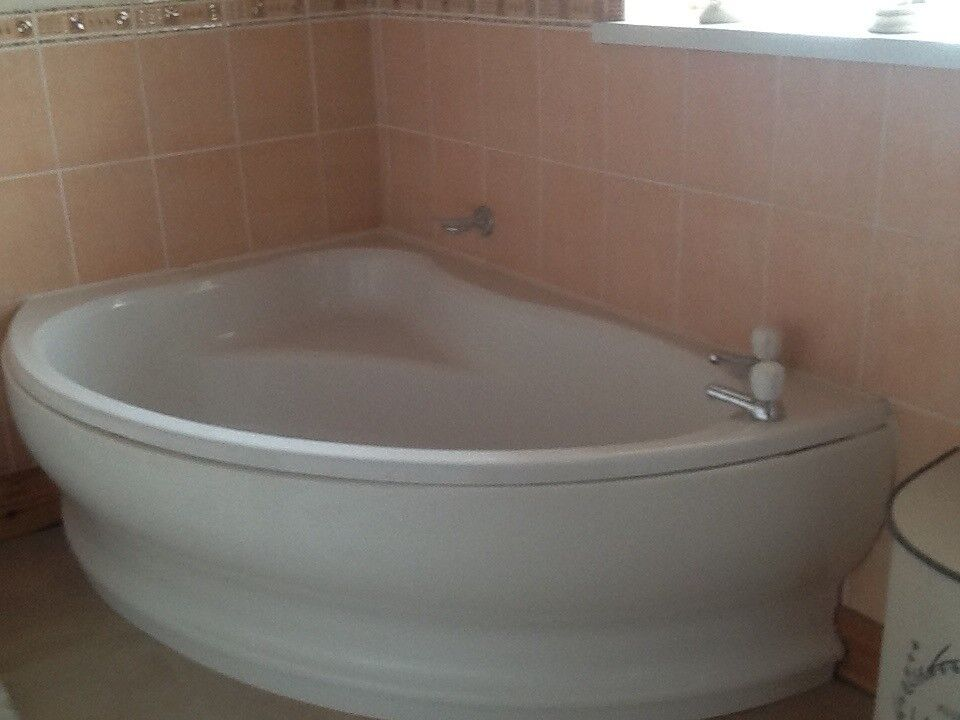 For sale a bathroom suit with corner bath and sink with a unit all ...