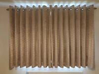 NEXT 2x Embossed Geo Velvet Champagne Black out curtains - OPEN TO OFFERS
