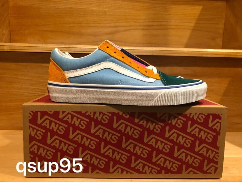 Details about Vans Old Skool Yacht Club Blue Green Yellow Red Color Block VN0A38G1R1Q Sz 4 13