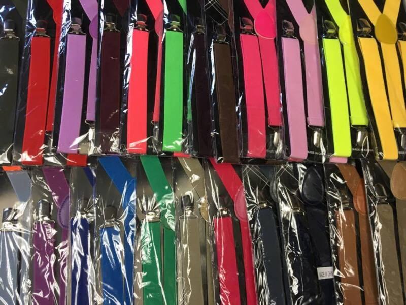 28 Colors Mens&womens Clip-on Sexy Suspenders Elastic Y-shape Adjustable Braces