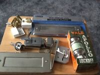 Selection of letter boxes and Yale locks
