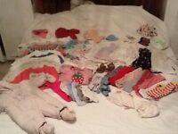 Big bag of girls clothes 0-6 months