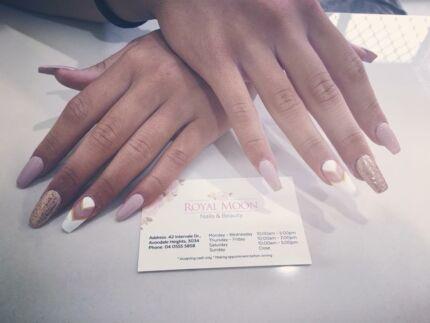 Royal moon nails and beauty