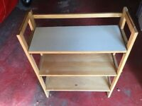 Fold away wooden 3 Shelf bookcase