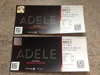 2 Adele tickets for Thursday 29th June