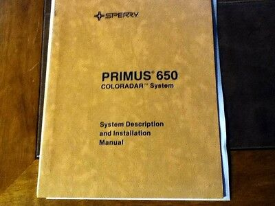 Sperry Primus 650 Radar Install Manual