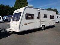 Bailey Senator Indiana 4 berth caravan 2007 ,FIXED BED, Awning, Bargain !!