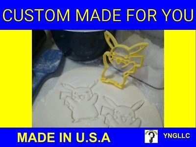 POKEMON GO PIKACHU CHARACTER FONDANT COOKIE CUTTER FONDANT MADE IN USA PR460
