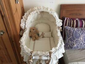 Large ABC Baby (Spanish) Wicker Moses Basket