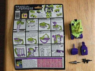 Transformers Original G1 1985 Constructicon Scavenger Complete for Devastator