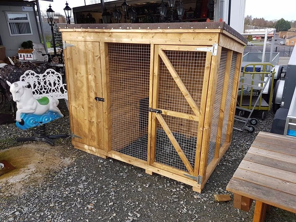 Wooden Dog Kennel With Side Pen Run Hen Arks And Rabbit