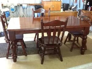 TABLE Dining With 4 Chairs, Quality Timber, newly Restored,Rustic Clifton Springs Outer Geelong Preview