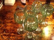 Vintage Glass Wine Goblets