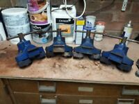 Four Marples floor clamps