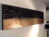 "Original large hand painted canvas """" Bronze age""100x50x50x2 three piece set"