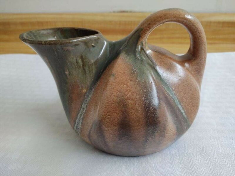 Vintage Thulin Faiencerie Belgium studio art pottery pitcher