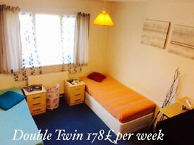 Double room to rent in lovely italian home can be double or Twin clean and tidy people