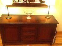 Mahogany Dresser and matching mirror