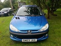 FOR SALE: Peugeot 206 Estate £450ono