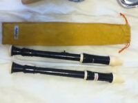 Two good condition recorders, one case