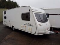 Lunar Quasar 546 6 Berth caravan VGC, FIXED TRIPLE BUNK BEDS, AWNING, Bargain !