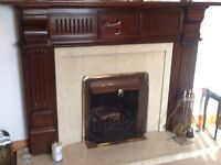 Beautiful mahogany fire surround