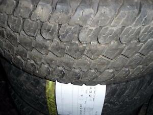 4 pneus d'été 265/70/17 GoodYear Wranger ATS, 35% d'usure, mesure 8/32.