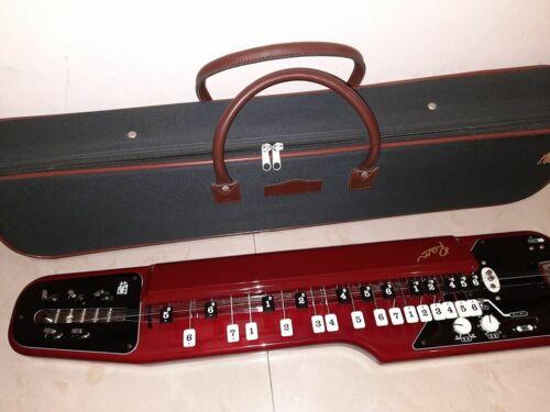 SUZUKI RAN (蘭) Red Electric Soprano 75cm Taishogoto with Semi-Hard Case (#135)