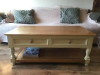 Restored solid pine coffee table painted in Annie Sloan.