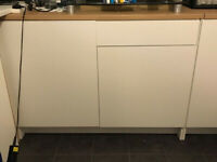 Two Double Kitchen Base Units and Worktops