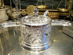 Silver Plate Sugar Bowl Ornate Richly Ornamented Filigree Vintage Antique