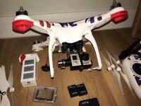 DJI Phantom 2 FPV + Zenmuse H3D3 Gimbal + GoPro Hero 3 + Extras