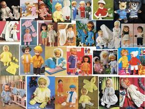 OVER 100 LARGE 12-22 INCHES DOLL OUTFITS & TEDDY CLOTHES KNITTING PATTERNS ON CD