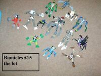 lego bionicles all in pic £15 the lot selling as a bundle collection only from didcot