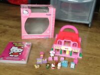 HELLO KITTY MINI CANDY HOUSE PLAY SET & HELLO KITTY PARADISE DVD WITH 6 STORIES & QUIZZES & GAMES