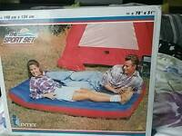 Double camping bed
