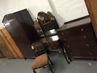 LOGAN'S VINTAGE WARDROBE, DRESSING TABLE & CHEST OF DRAWERS - BEDROOM SET