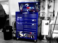 "Snap on tool chest, box, cabinet. 40"" Royal blue"