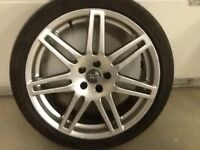 18INCH 5/100 RS4 ALLOY WHEELS FIT VW SEAT ETC WITH TYRES