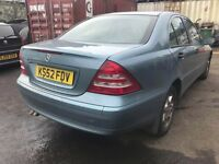 2002 52 MERCEDES C180 KOMPRESSOR CLASSIC SE AUTO 1 YEARS MOT 88K MILES FSH (CHEAPER PART EX WELCOME)