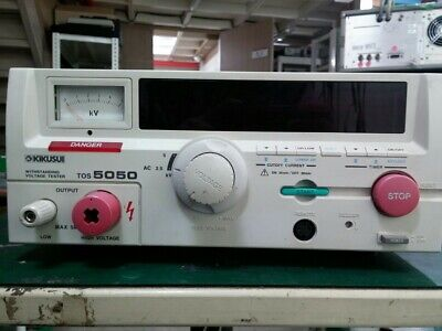 Kikusui Tos5050 Withstanding Insulation Tester Ac 0 To 2.5kv5kv Ac Test Only