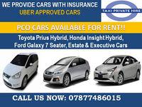 TOYOTA PRIUS HYBRID PCO CAR FOR H I R E + U B E R