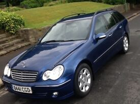 2005 MERCEDES C200 1.8 SE AUTO ESTATE ELEGANCE WITH FULL LEATHER AND FULL HISTORY