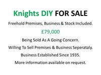 Knights DIY Business & Premises For Sale - Located in Abercarn NP11