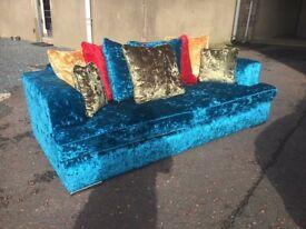 Ex-display**Extra large high quality crushed velvet sofa