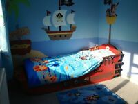 Crazy Shark Pirate Ship Bed - collection only