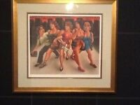 Graham McKean Girls Night Out Signed AP Rare framed print £100