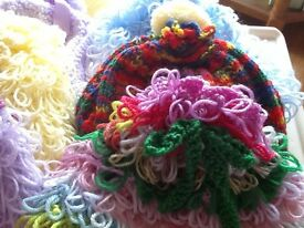 Hand made knitted tea cosy