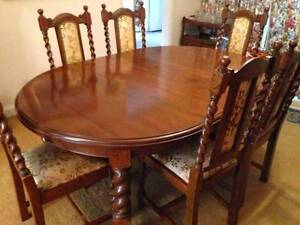 1930's Dining Room Table/Chairs Northbridge Willoughby Area Preview